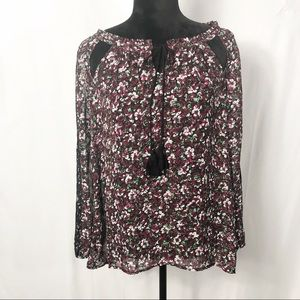 Jessica Simpson Lorette Long Sleeve Top Size Small